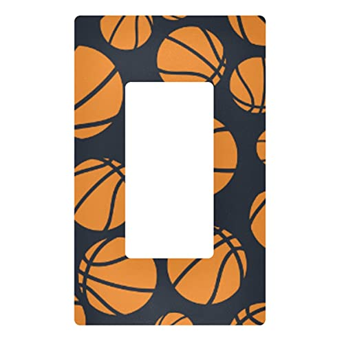 Placa decorativa de pared con interruptor de luz, color azul oscuro, naranja y naranja