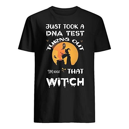 AKDesigns - Maglietta per Halloween con scritta 'Just Took a DNA Test Turn Out That Witch Moon Nero  3XL