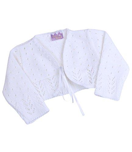 Babyprem Babykleidung Bolero Jäckchen Pullover 62 / 68cm Weiss