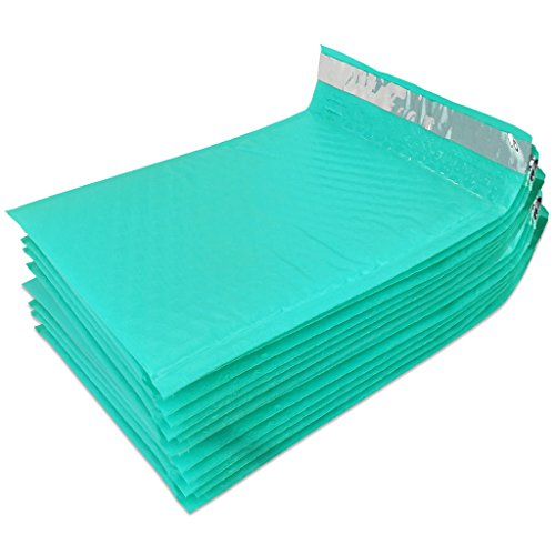 "Beauticom TEAL (30 Pieces) #0, 6x10 Self-Seal Poly Bubble Mailer 6.25"" x 9 1/4"" Photo #3"