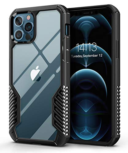 MOBOSI Vanguard Armor Compatible with iPhone 12 Pro Max Case,Rugged Cell Phone Cases,Heavy Duty Military Grade Shockproof Drop Protection Cover 6.7 inch 2020 (Matte Black)