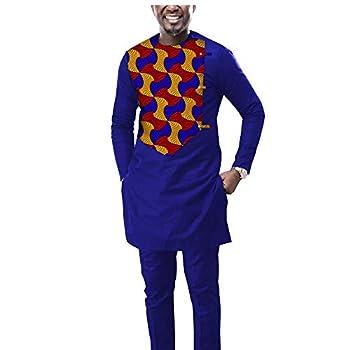 Men`s 2 Piece Set African Dashiki Print Coats Jacket and Ankara Pants Traditional Wear Pockets Tracksuit 543 1 6XL
