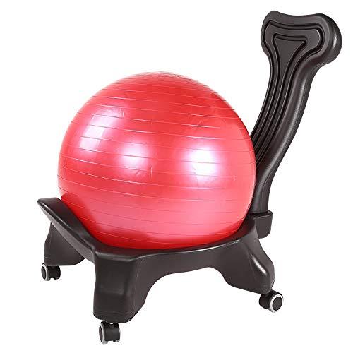 PQXOER Bürostuhl Schreibtischstuhl Classic Balance Ball Chair - Bewegungsstabilität Yoga Ball Premium Ergonomischer Stuhl für Home und Office Desk mit Luftpumpe Ergonomisch Computer Stuhl