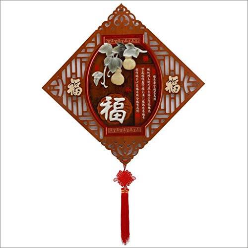 ZXL Jade Carving Wohnzimmer Dekorative Malerei Veranda Hängende Gemälde Diamantanhänger Dreidimensionale Reliefbilder Moderne chinesische Wandbilder (Farbe: E)