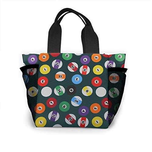 Billiards Handtasche für Damen, modisch, wiederverwendbar, für Einkäufe, Licht, Handtaschen, hohe Kapazität, Geschenktüten, Lebensmittelbehälter