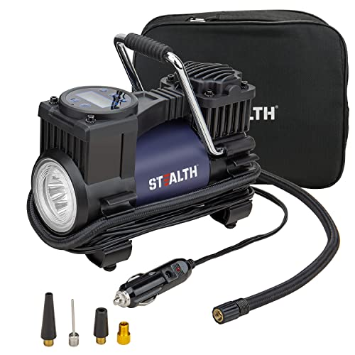 Stealth Tire Inflator, 12V Digital Auto Portable Tire Pump,120PSI with LED Light, Mini Air...