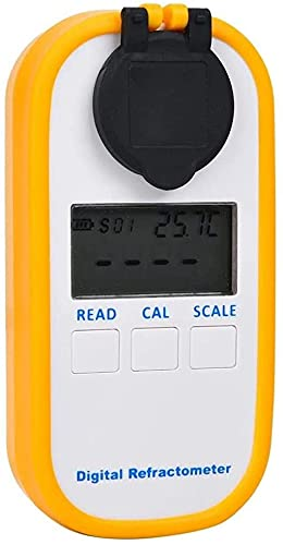 Qjkmgd Kaffee-Densitometer Zucker-Messwerkzeug wasserdichte Digitale Bierkonzentrationsmesser Anti-Stoß-Refraktometer Hochpräzises Hydrometer für Home Office