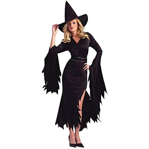 Auiyut Damen Halloween Kostüm Cosplay Kleid Hexenkostüm oder Teufel Kostüm Anzug mit...