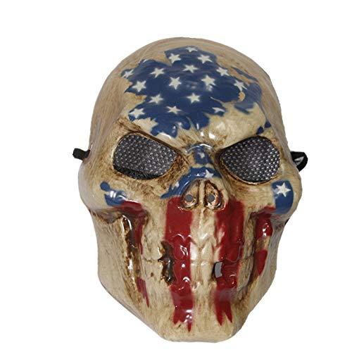 The Rubber Plantation TM 619219292177The Purge anno elettorale stampa maschera di Halloween costume da scheletro vestito (bandierina cranio), unisex, taglia unica
