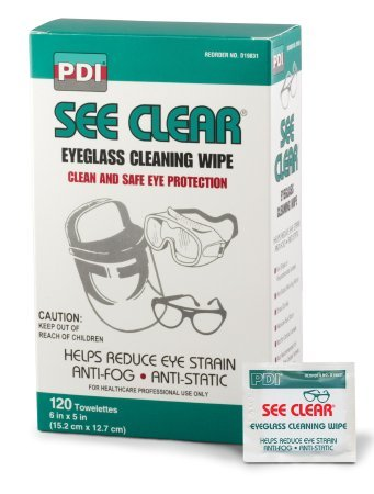 PDI Healthcare D19831 See Be super welcome Clear Eye Wipe x Free shipping Glass Cleaning 5