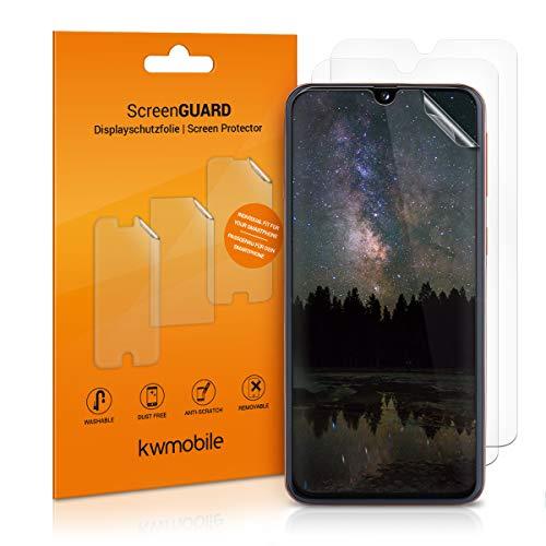 kwmobile 3X Folie kompatibel mit Samsung Galaxy A40 - klare Displayschutzfolie Displayschutz transparent Displayfolie Schutzfolie