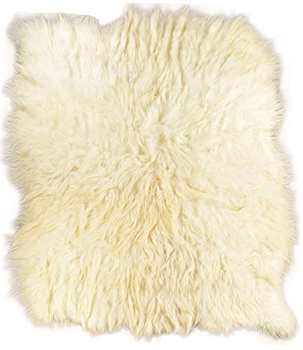 generisch PHc - Alfombra de Pelo de Oveja (200 x 230 cm, 8 Unidades), Color Blanco