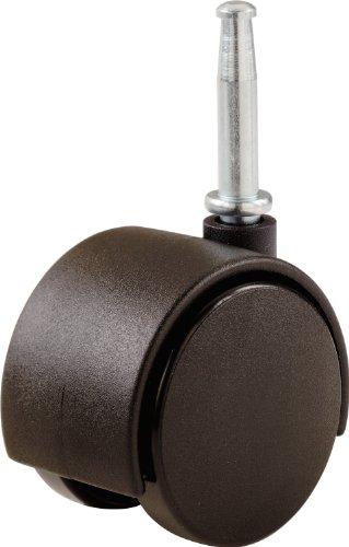 Shepherd Hardware 9577 2-Inch Office Chair Caster, Twin Wheel, 5/16-Inch Stem Diameter, 75-Lb Load Capacity