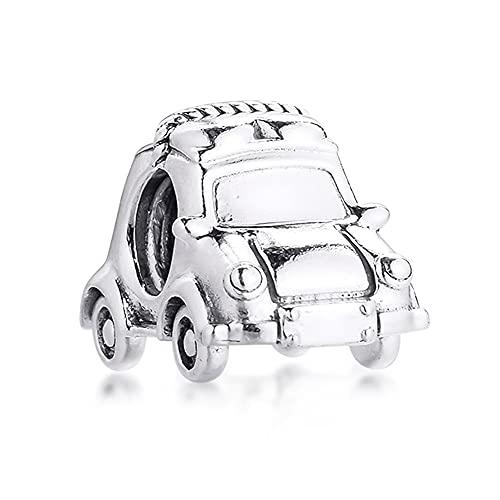 Pandora 925 plata esterlina colgante DIY se adapta a encantos pulseras coche eléctrico perlas joyería