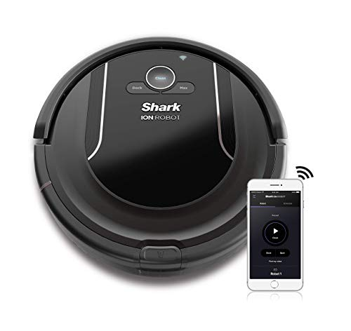 SHARK ION Robot Vacuum R85 WiFi-Connected with Powerful Suction, XL Dust Bin, Self-Cleaning Brushroll and Voice Control with Alexa or Google Assistant (RV850) (Renewed)