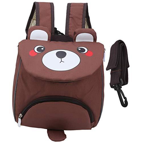 Cómoda mochila escolar ecológica para niños de 3 a 6 años(Bear brown)