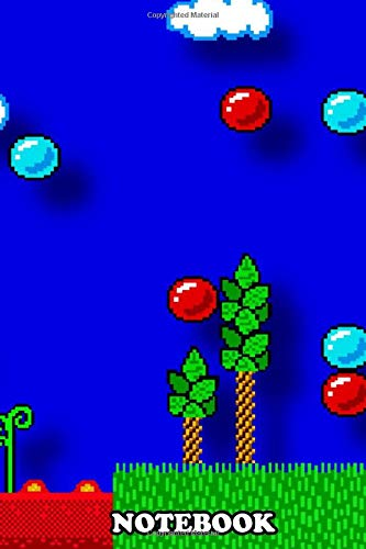 """Notebook: Alex Kidd Floor Is Lava , Journal for Writing, College Ruled Size 6"""" x 9"""", 110 Pages"""