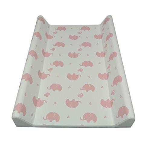 AsMi Wickelauflage Wickelmulde Elefanten (70 X 50 II - Keil, Elefant Rosé)