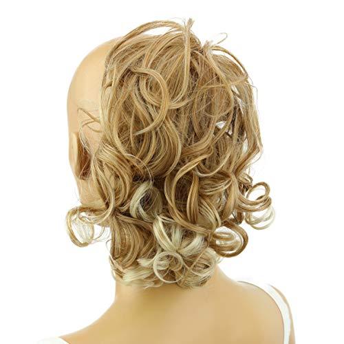 PRETTYSHOP Haarteil Haargummi Hochsteckfrisuren Brautfrisuren Voluminös Gelockt Unordentlich Dutt Blond Mix G12L