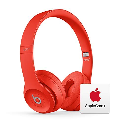 Beats Solo³ Wireless On-Ear Headphones - Apple W1 Chip - Red with AppleCare+ Bundle