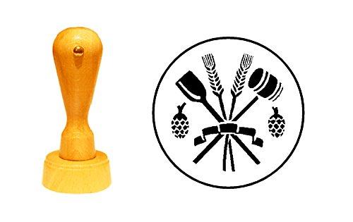 Stempel Holzstempel Motivstempel « BRAUER Bier BRAUEREI » Zunftzeichen