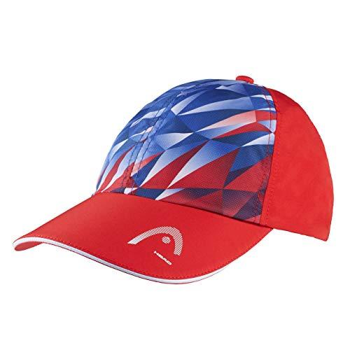 Head Gorra con función de luz para Hombre, Azul Rey/Rojo, Talla única