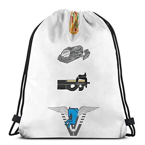 WH-CLA Drawstring Bags Atlantis Starter Pack Borse con Coulisse Cinch Pack Stampa Palestra Leggera Anime Stampato Shopping Donna Borsa Sportiva Sport Palestra Sacco Viaggio Unico Yoga Zai