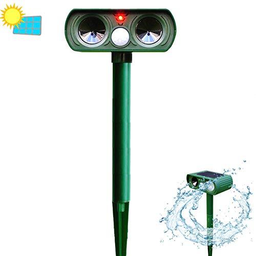 Daniel Haywood Repellents Solar Animal Motion Sensor Ultrasonic Mosquito Mouse Pests Repeller Upgrade Waterproof