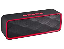 Praxan TG113 Portable & Waterproof Wireless Bluetooth Speaker with Best Sound Quality Playing with Mobile | Tablet | Laptop | AUX | Memory Card | Pen Drive | FM & Much More (Random Color),Praxan
