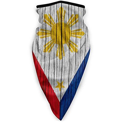 Philippines Wooden Texture Philippine Flag Filipino Bandana Face Dust Mask for Women Men Headband Head Wrap Clothes Dress Half Balaclava Clothing Accessories Head Wrap Apparel Scarf