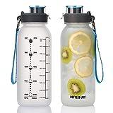 BOTTLED JOY 32oz Water Bottle, BPA Free Water Bottle with Motivational...