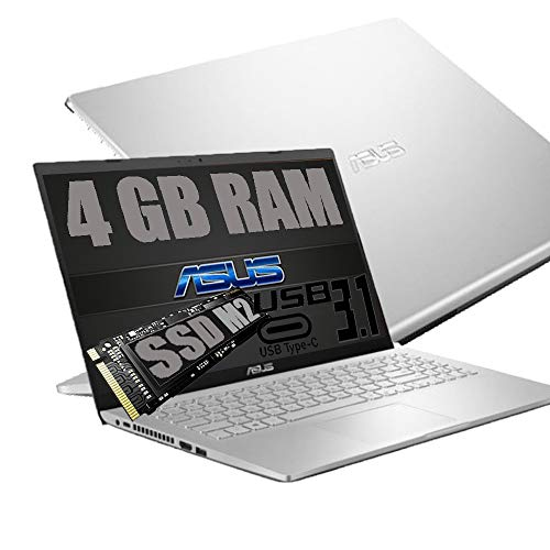 """Notebook Asus Silver Portatile Pc Display 15.6"""" HD /Intel Dual Core N4020 Up To 2.80Ghz /Ram DDR4 4Gb /SSD M.2 256GB /Intel UHD Graphics 600 /Hdmi Wifi Bluetooth /Windows 10 /Open Office"""