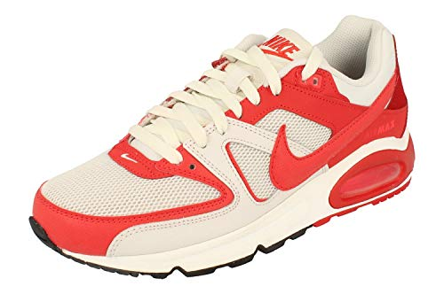 Nike Air MAX Command Men's Shoe, Zapatillas para Correr Hombre, Platinum Tint/Track Red/Gym Red, 40 EU