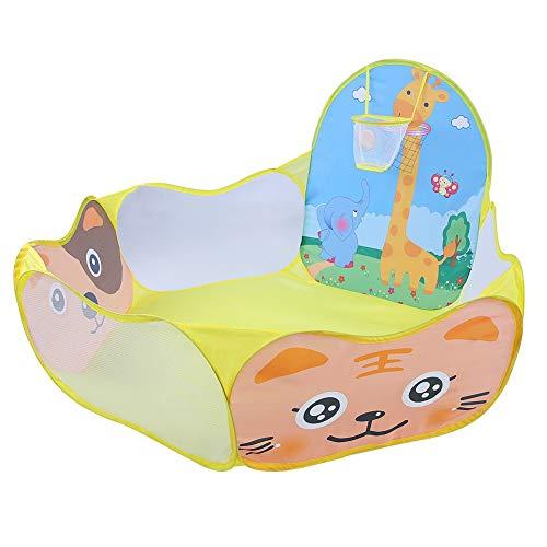 Cuque Tienda de Bolas para niños, Tienda de campaña para niños, Plegable, Suave y Transpirable(Yellow Deer)