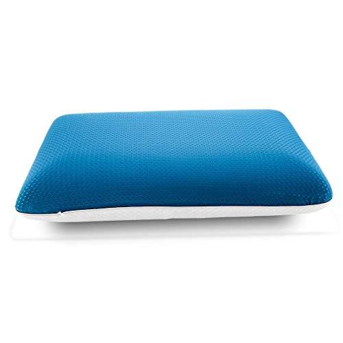 Cuscino Memory Foam, Cuscino Memory, Fodera Lavabile, Alta Elasticità, Cuscino Morbido, Traspirante e confortevole, Cuscino Massaggiante per Unisex (Blu)