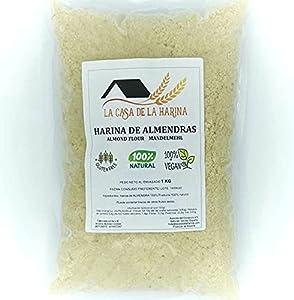 HARINA DE ALMENDRAS 1KG   Sin gluten 100%   Apta para dietas Keto (5,4g x 100g carbohidratos)   Apto Vegano   100% natural   LA CASA DE LA HARINA   Producto de España