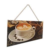 カフェバー パブ 木製 標識 家 装飾 サイン 木製 プラーク 壁装飾 ヴィンテージ 全4種 - A
