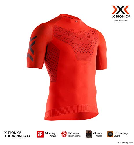 X-Bionic Twyce 4.0 Run Chemise Homme, Sunset Orange/Teal Blue, FR (Taille Fabricant : XL)