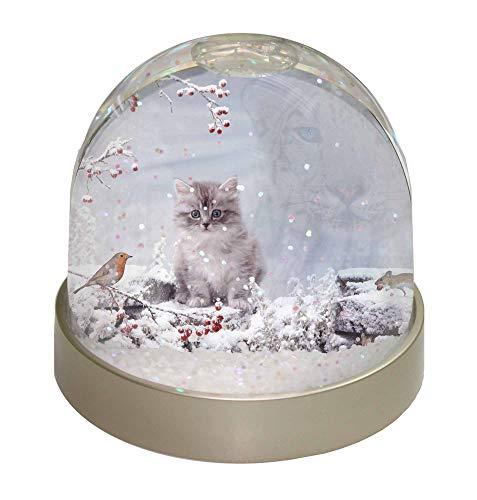 Advanta - Snow Globes Geist Katze auf Kitten -Uhr Schneekugel Globus Wasserball Tier Weihnachtsgeschen