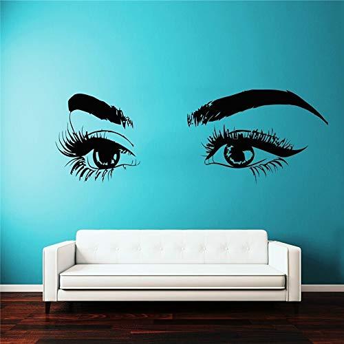 BailongXiao Aufkleber Wimpern Applique Wimpern Auge Wandaufkleber Mädchen Augenbrauen Dekoration Wandaufkleber
