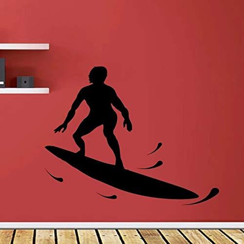 LKJHGU Wasserski Kunst Wand Wohnzimmer wasserdichte Farbe zur Verfügung Wand Vinyl...