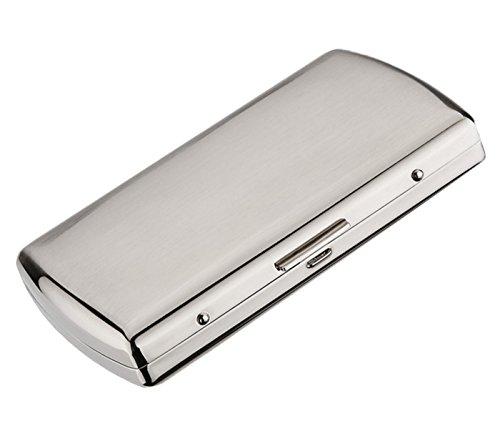 Kuboy Dauerhaft Metall Zigarettenetui für 12 Zigaretten (54 x 89 x 19mm), Zigarettenbox Zigarettenhülle Zigarettenkasten Zigarettencase