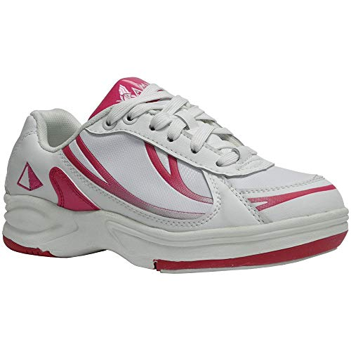 Pyramid Path Sport Womens Bowling Shoes (White/Hot Pink, Size 10)