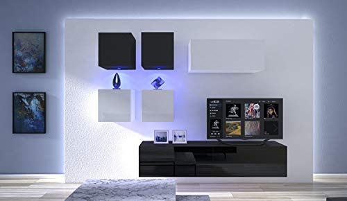 HomeDirectLTD Moderno Conjunto de Muebles modulares Blanco/N