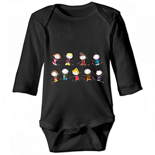 Child's Childhood Unisex Baby Round Neck Long Sleeve Bodysuit, Fashion Casual Baby Climbing Suit 2T