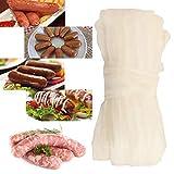 happygirr Funda para salchichas, cerdo y seco, herramienta para procesamiento de carne, 32 mm x 3 m, para el fabricante de salchichas