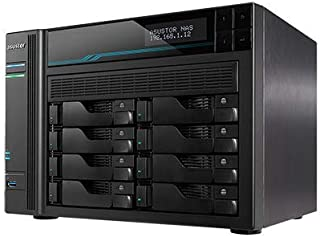Asustor Lockerstor 8 | AS6508T | Enterprise Network Attached Storage | 2.1GHz Quad-Core, Two 10GbE Port, Two 2.5GbE Port, ...