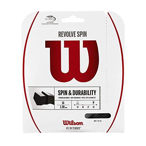 Wilson Revolve Spin Cordaje De Tenis, 12.2 M, Unisex, Negro, 1.30 Mm