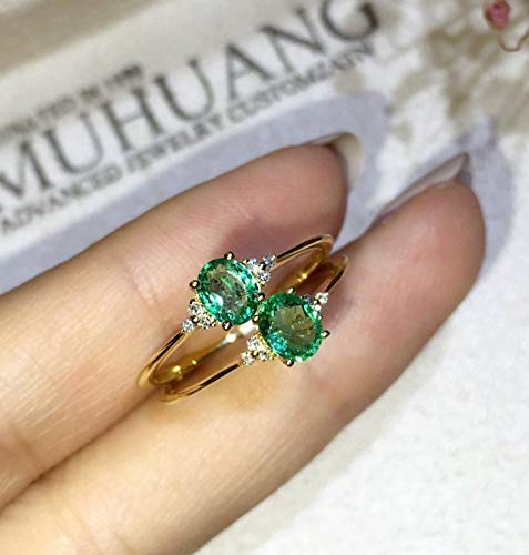 Emerald Engagement Ring Genuine Natural Super sale Go Green White Ranking TOP8