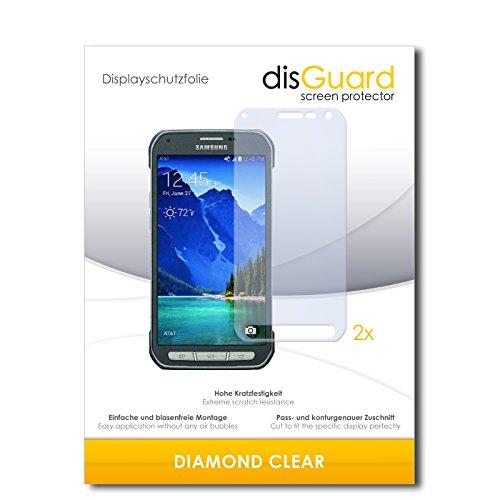 disGuard 2 x Bildschirmschutzfolie Samsung Galaxy S6 Active Schutzfolie Folie DiamondClear unsichtbar